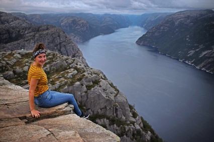 Chilling out at Preikestolen.