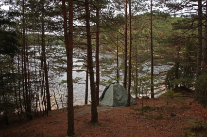 Camping in Sweden.