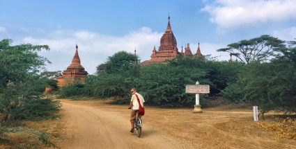 Cycling around Bagan, steadily seeking a temple to climb up (for sunset views...).