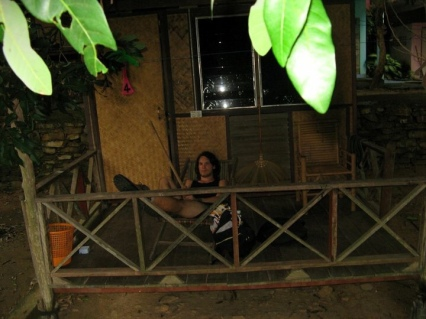 October 2006 on Ko Samet: Proudly defending our first-ever Thai beach bungalow!