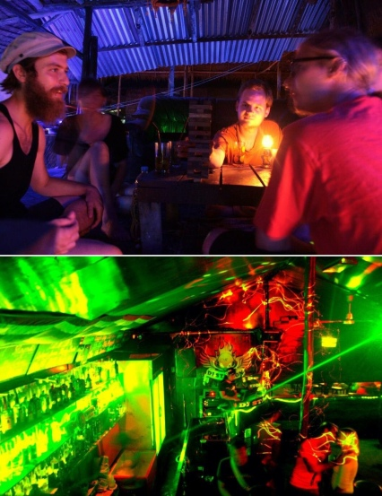 Partying on Ko Chang, Northeastern Thailand (February 2013).