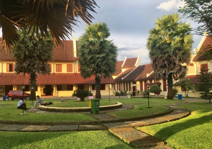Makassar's main tourist attraction: Fort Rotterdam.