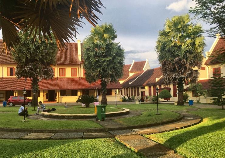 Makassar's main tourist attraction: Fort Rotterdam.