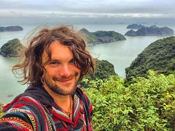 Overlooking Halong Bay from Cat Ba Island at New Year's Eve 2018.