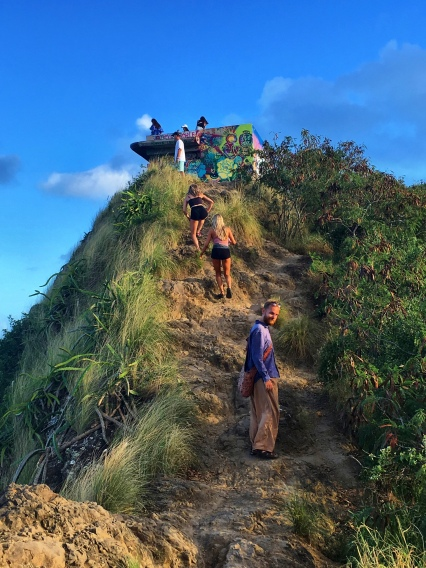 Almost arriving at the top of the Pillbox Hike in South-Eastern O'ahu...