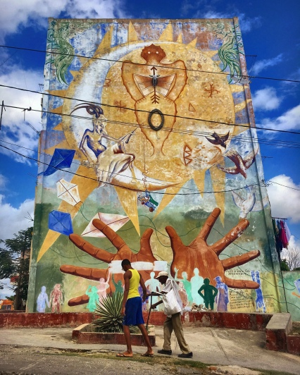 Curious street art in Santiago de Cuba.