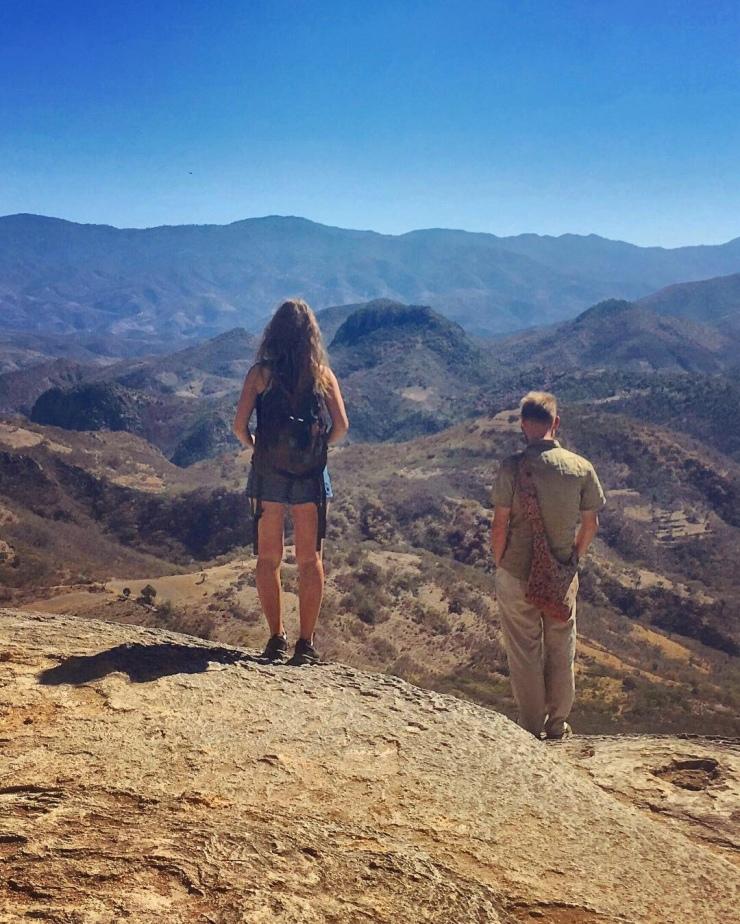Veronika and cK enjoying the view at Hierve El Agua (near Mitla in Oaxaca).