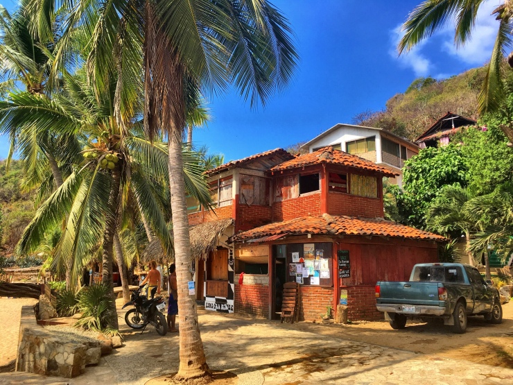 Our house in Mazunte – directly at the beach.