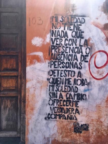 Street wisdom in San Cristóbal de las Casas.