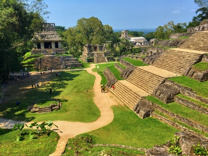 The ruins of the forgotten city of Palenque.