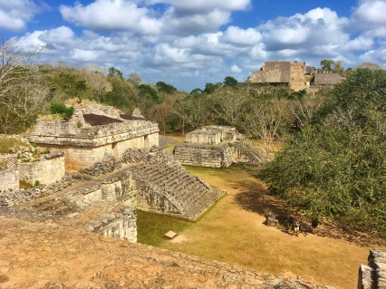 Ancient (and once completely covered) Maya ruins at Ek Balam, just north of Valladolid (Yucatan).