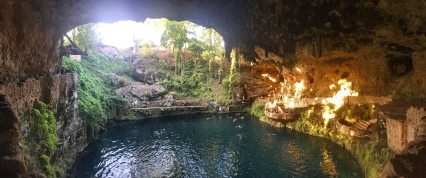 The mysterious beauty of a cenote, a sinkhole with a fascinating geological history – this one being located right in the centre of Valladolid in Yucatan State.