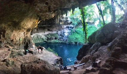 The 'city cenote' within the charming town of Valladolid (in Yucatan State).