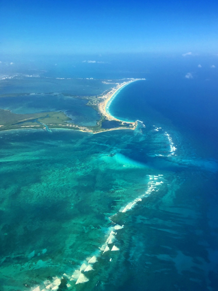 Last view on México while on the plane towards La Habana, Cuba.