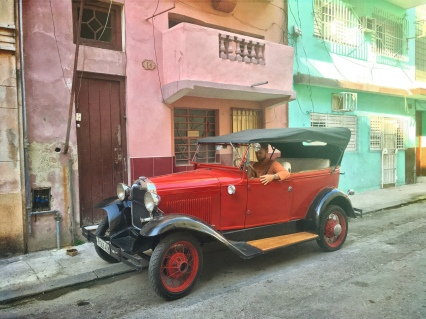 cK hanging out in just another wonderfully old car on some Havana side street.