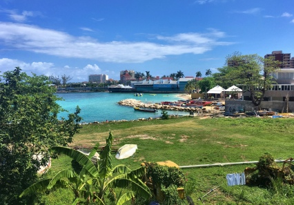 Ocho Rios, on the northern shore.